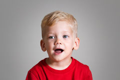 Singing kid Royalty Free Stock Image