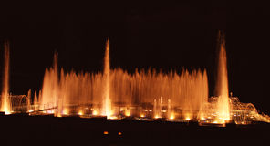 Singing Krizikova Fountains Stock Photo