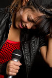 Singing Latina Stock Photos