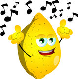 Singing lemon Stock Photo