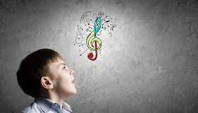 Singing lessons Stock Image