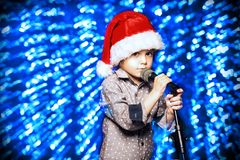 Singing little boy royalty free stock image