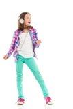 Singing little girl Stock Photo
