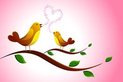 Singing Love Bird Stock Image