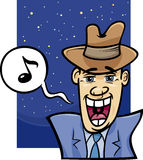 Singing man cartoon illustration Stock Image