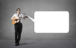 Singing man Royalty Free Stock Images