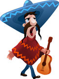 The singing mexican man Royalty Free Stock Image