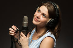 Singing momen Stock Image