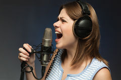 Singing momen Royalty Free Stock Images