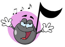 Singing music note Royalty Free Stock Photo