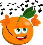 Singing orange Stock Image