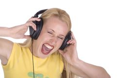 Singing out very loud stock images
