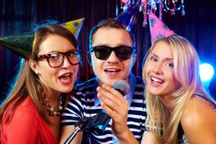 Singing at party Stock Image