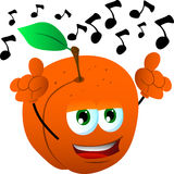Singing peach Royalty Free Stock Image