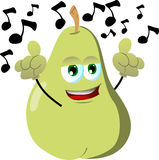 Singing pear Royalty Free Stock Photo