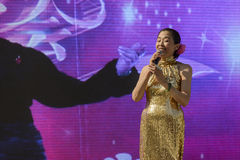 Singing performance outside China Pavilion 01, EXPO 2015 Milan Stock Photography