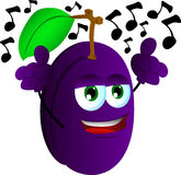 Singing plum Stock Photo