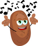 Singing potato Royalty Free Stock Photography