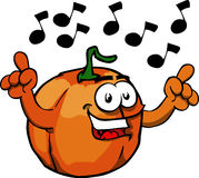Singing pumpkin Stock Photos