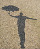 Singing in the rain Royalty Free Stock Photos