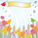 Singing in the Rain shower invitation Royalty Free Stock Photography