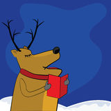 Singing reindeer Stock Image
