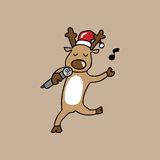 Singing Reindeer Christmas Royalty Free Stock Photo