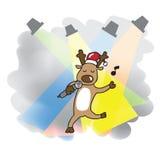 Singing Reindeer Christmas Royalty Free Stock Photography
