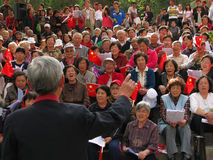 Singing revolutionary songs Royalty Free Stock Photo