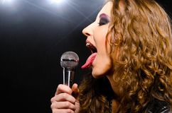 Singing rock music Royalty Free Stock Photography