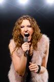 Singing rock music Royalty Free Stock Photo