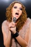 Singing rock music Royalty Free Stock Photos