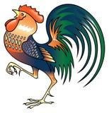 Singing Rooster. Vector illustration on white background Vector Illustration