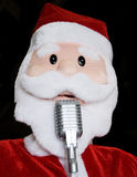 Singing Santa Royalty Free Stock Image