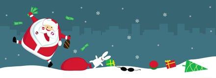 Singing Santa Stock Image