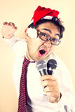 Singing Santa Stock Photos