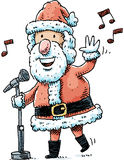 Singing Santa Stock Photography