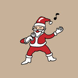 Singing Santa Christmas Royalty Free Stock Photos