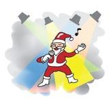 Singing Santa Christmas Stock Image