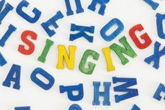 Singing Royalty Free Stock Image
