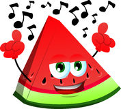 Singing slice of watermelon Royalty Free Stock Images