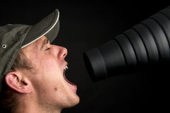 Singing In The Snoot Royalty Free Stock Photos