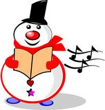 Singing snowman Stock Image