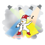 Singing Snowman christmas Royalty Free Stock Photography