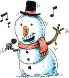 Singing Snowman Stock Photos