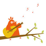 Singing a song. Spring bird singing on a tree Royalty Free Stock Photography