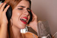 Singing a song Stock Image