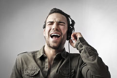 Singing songs Stock Photography