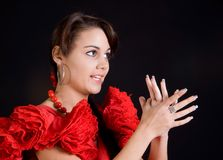 Singing in Spanish Royalty Free Stock Photography