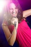 Singing Teen Girl Stock Photo